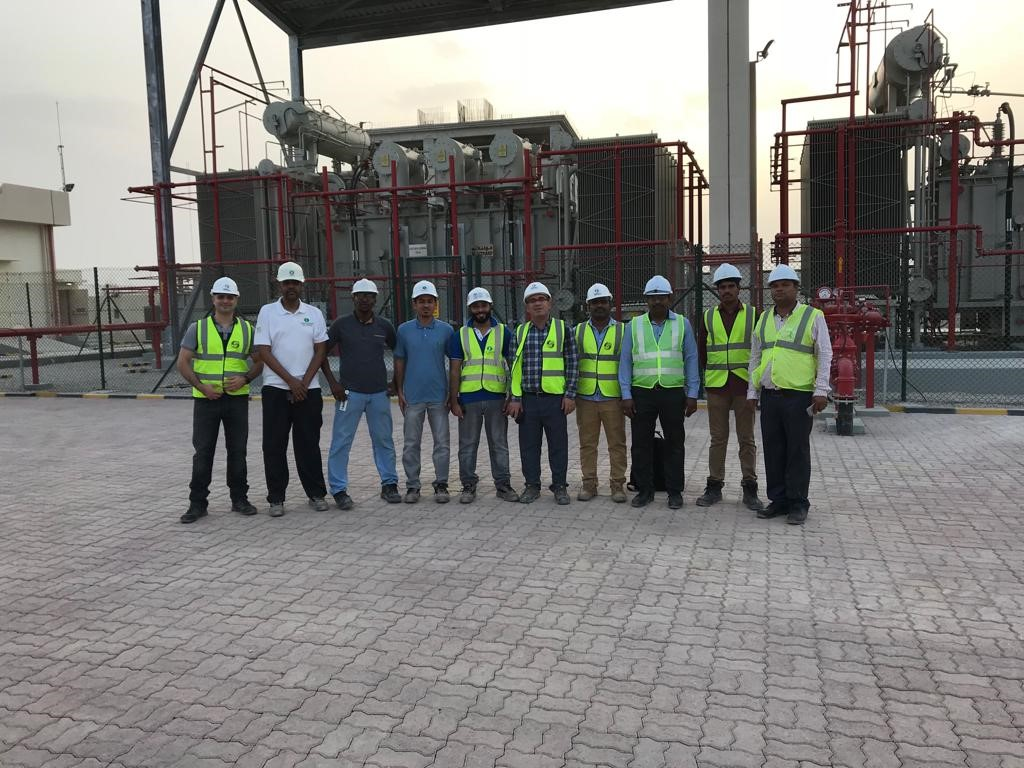 132kV portion successfully energized at existing A'salam Grid Station