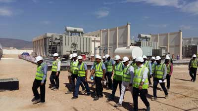 CEO of Oman Electricity Transmission Company site visit from Al Saada Grid Staion in Oman